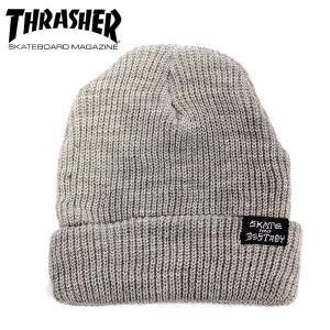 THRASHER スラッシャー ビーニーSKATEGOAT/SKATE AND DESTROY by ELM GRY ニット帽 スケーター アパレル|eshop