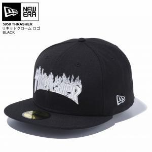 NEWERA newera ニューエラ キャップ 5950 THRASHER リキッドクローム ロゴ CAP スラシャー|eshop