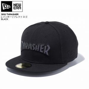 NEWERA newera ニューエラ キャップ 5950 THRASHER レインボーリフレクト ロゴ CAP スラシャー|eshop