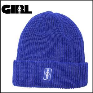 GIRL ガール ビーニー OG FOLD NAVY ニット帽 スケーター アパレル|eshop