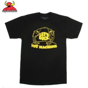 TOY MACHINE トイマシンーン LET'S DOCK II  BLACK TEE スケーターTシャツ|eshop