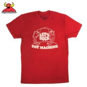 TOY MACHINE トイマシンーン LET'S DOCK II  CARDINAL TEE スケーターTシャツ|eshop