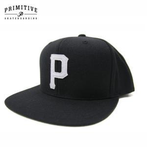 PRIMITIVE プリミティブ キャップ SLAB P SNAPBACK CAP BLACK スケーター ストリート|eshop