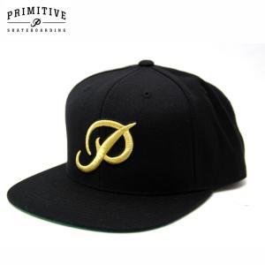 PRIMITIVE プリミティブ キャップ CLASSIC P SNAPBACK CAP GREY BLACK スケーター ストリート|eshop