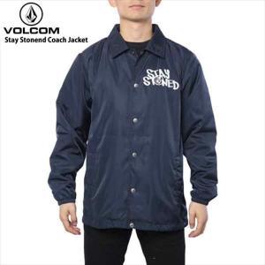 volcom ボルコム ウィンドブレーカー メンズ Stay Stonend Coach Jacket NVYトップス ジャケット ジャンパー|eshop