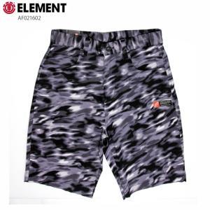 ELEMENT エレメント メンズ  ハーフパンツ AF021602 BLK ウォークショーツ ストレッチ 短パン|eshop