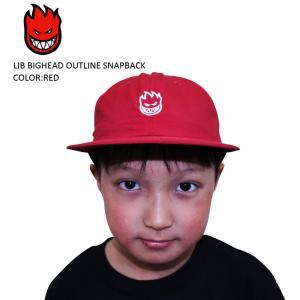SPITFIRE スピットファイア スピットファイヤー スケート CAP キャップ 帽子 LIB BIGHEAD OUTLINE SNAPBACK SKATE スケーター キッズ ユース|eshop