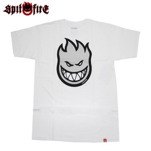 SPITFIRE スピットファイヤー Tシャツ BIGHEAD FILL S/S TEE WHITE / G. REFLECTIVE Fill スケボー ウェアー SKATEBOARD eshop