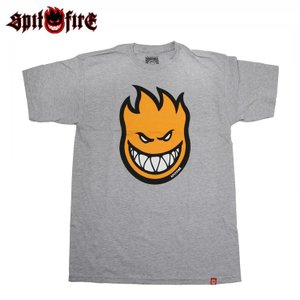 SPITFIRE スピットファイヤー Tシャツ BIGHEAD FILL H.D S/S TEE A.HEATHER/ H.DENSITY INK スケボー ウェアー SKATEBOARD eshop