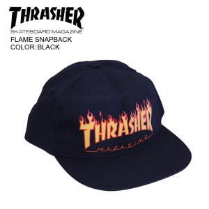 THRASHER スラッシャー メッシュ キャップ FLAME SNAPBACK BLK mesh cap|eshop