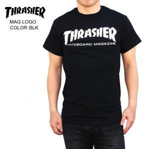 THRASHER スラッシャー メンズTシャツ MAG LOGO BLK SKATE TEE|eshop