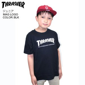 THRASHER スラッシャー ジュニア Tシャツ MAG LOGO YOUTH BLK SKATE TEE|eshop
