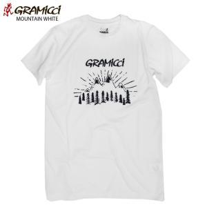 送料無料 Gramicci グラミチ MOUNTAIN Tシャツ WHITE 17SS ニューモデル|eshop