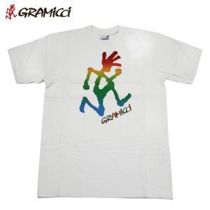 送料無料 Gramicci グラミチ TIE&DIE RUNNINGMAN Tシャツ WHT 17SS ニューモデル|eshop