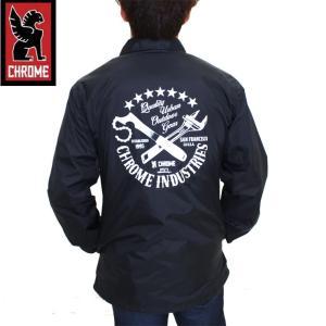 CHROME クローム メンズ ウェアー QUALITY COACHI JKT BLACK ジャケット アウター|eshop