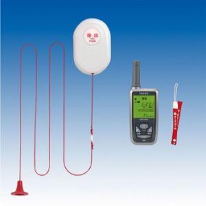 竹中エンジニアリング 緊急呼出セット(ワイヤレス100m) トイレ・浴室用送信機・携帯型受信機セット EC-B(KE) TAKEX|eshopmtc