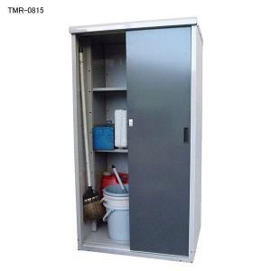 幅800×高さ1500x奥行650(mm) タカヤマ スチール製小型物置 TMR-0815|eshoptakayama