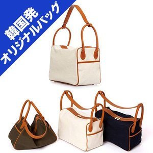 【韓国発オリジナルバッグ】 L-bag canvas | 韓国セレブご用達 コットン素材 トートバッグ ショルダーバッグ|esmile-y