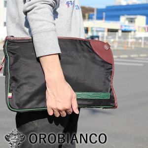 【OROBIANCO】 オロビアンコ クラッチバッグ DOKU (ブラウン)|esmile-y