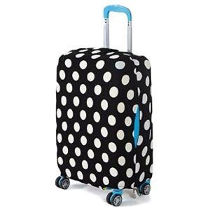041cd8c81c Oche スーツケースカバー 旅行 キャリー バッグ かばん ラゲッジ カバー 盗難 間違い 防止 に (白黒ドット柄M)
