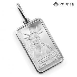 純プラチナ PT999.5 リバティ・インゴット 20g ペンダントトップ 自由の女神