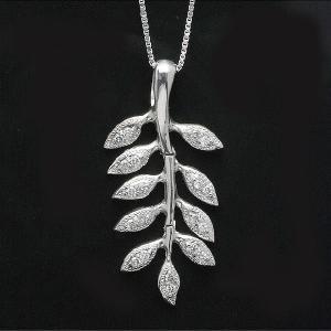 0.25ct 18金ホワイトゴールドダイヤモンドペンダントネックレス(rv-3026-w)|espoir2006