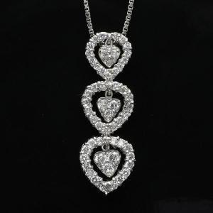 0.56ct 18金ホワイトゴールドダイヤモンドペンダントネックレス(rv-3043-w)|espoir2006