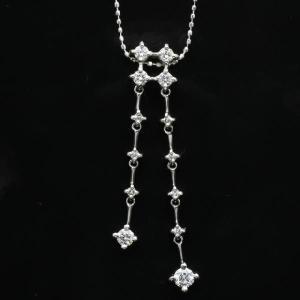 0.5ct 18金ホワイトゴールドダイヤモンドペンダントネックレス(rv-3055-w)|espoir2006
