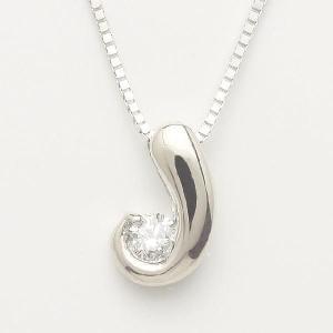 1粒ダイヤモンド18金ホワイトゴールドペンダントネックレス(u-63-w)|espoir2006