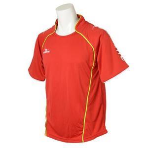 ダウポンチ(Dalponte) ダブルパイピングゲームシャツ DPZ30 RED フットサル ウェア ウエア|esports