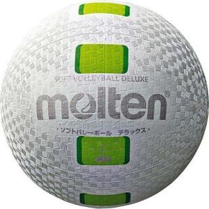 モルテン(molten) ソフトバレーボールデラックス 白グリーン S3Y1500-WG バレーボール 公認球|esports