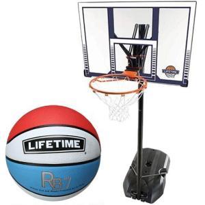 ライフタイム(LIFE TIME) バスケットゴール LT-90001 5号ボールセット バスケットボール バックボード ストバス 部活 新入部 esports
