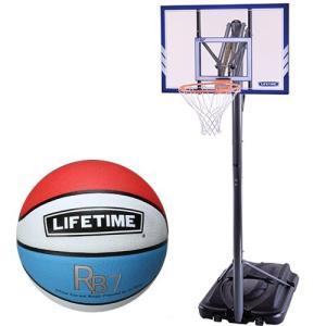 ライフタイム(LIFE TIME) バスケットゴール LT71546 7号ボールセット バスケットボール バックボード ストバス 部活 新入部 esports