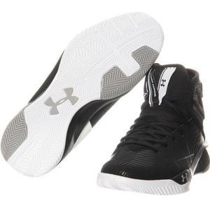アンダーアーマー(UNDER ARMOUR) メンズ バスケットボールシューズ ロケット UA ROCKET 2 SL BLK/WHT/BLK 1302215 001 バッシュ 靴|esports