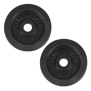 リーディングエッジ (LEADING EDGE) ラバーダンベル プレート 2.5kg 2枚セット ブラック 28mm径 LE-DBP2.5 ダンベルプレート 単品別売り 2個セット ESDB|esports