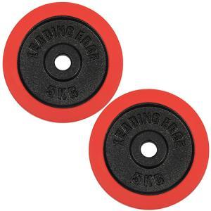 シリコン ラバーダンベル プレート 5kg 2枚セット レッド 28mm径 ESDP-5R ダンベルプレート 単品別売り 2個セット 無臭素材 筋トレ espb