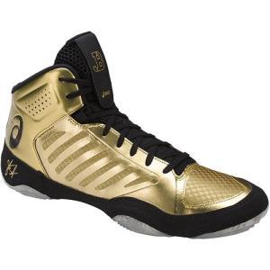 アシックス(asics) メンズ レディース レスリングシューズ JB エリート JB ELITE III リッチゴールド×ブラック J702N 9490 レスリング シューズ 靴