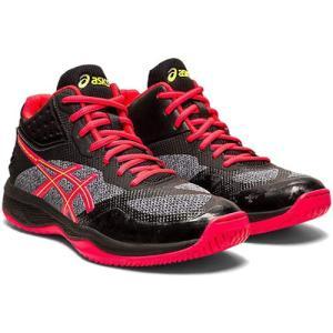 アシックス(asics) レディース バレーボールシューズ ネットバーナー バリスティック NETBURNER BALLISTIC FF MT ブラック/レーザーピンク 1052A001 001 靴|esports