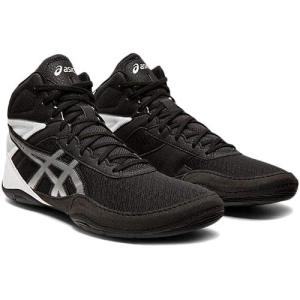 アシックス(asics) メンズ レディース レスリングシューズ マットフレックス6 MATFLEX 6 ブラック/シルバー 1081A021 001 インドア 室内 靴 ユニセックス