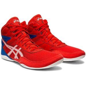 アシックス(asics) メンズ レディース レスリングシューズ マットフレックス6 MATFLEX 6 クラシックレッド/ホワイト 1081A021 600 インドア 室内 靴