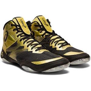 アシックス(asics) メンズ レディース レスリングシューズ JB エリート4 JB ELITE IV リッチゴールド/ブラック 1081A016 200 インドア 室内 靴 ユニセックス