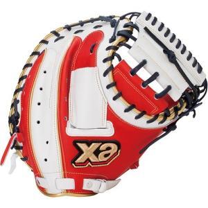 ザナックス(Xanax) 野球 軟式キャッチャーミット ザナパワー レッド×ホワイト 右投げ用 BR...
