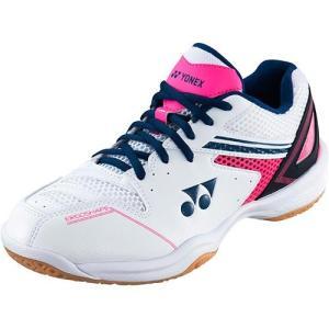 ヨネックス(YONEX) レディース バドミントンシューズ パワークッション 660 ホワイト/ピンク SHB660 062 バトミントン 練習 試合 部活 靴