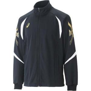 アシックス(asics) トレーニングジャケット XAT176 ブラック トレーニングウェア メンズ・レディース ジャージ ランニング・フィットネス|esports
