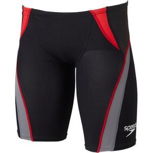 スピード(speedo) ファストスキン XT Pro Hybrid2 メンズジャマー レッド×チタニウム SD77C05 RT 男性用競泳水着 メンズ 競技用|esports