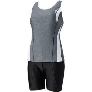 エレッセ(ellesse) セパレーツ ミックスグレイ×ホワイト ES57106 レディースフィットネス水着 女性用 esports