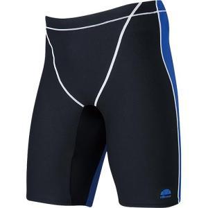 エレッセ(ellesse) メンズボックス4分丈 EN87220 KB/ブラック×ブルー メンズフィットネス水着 男性用|esports