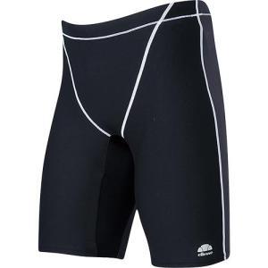 エレッセ(ellesse) メンズボックス4分丈 EN87220 KH/ブラック×チャコールグレイ メンズフィットネス水着 男性用|esports
