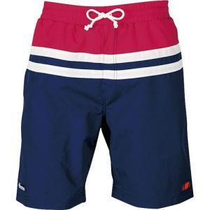 エレッセ(ellesse) メンズショートトランクス ネイビーB/レッド EN27292 NR メンズフィットネス水着 サーフパンツ 男性用|esports