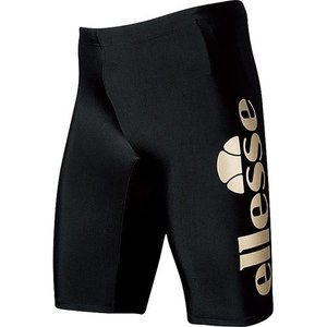 エレッセ(ellesse) メンズボックス4分丈 ブラック/ゴールド EN87190 KG メンズフィットネス水着 男性用|esports